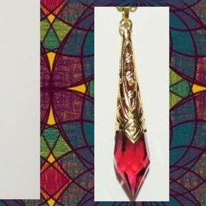 Get a Gift - Give Some Love Jewelry - Swarovski Crystal Pendulum Pendant - Fuschia